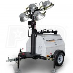 Generac MLT4060KV-STD - 6kW Towable Diesel Vertical Mast Light Tower w/ Kubota Engine & Electric Winch