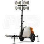 Generac MLT6SMD-STD - 6kW Towable Diesel Vertical Mast LED Light Tower w/ Mitsubishi Engine & Manual Winch
