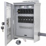 Reliance Controls Pro/Tran 2 - 30-Amp (120/240V 10-Circuit) Indoor Transfer Switch w/ Wattmeters & Inlet