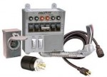 Milbank MMTS501SYSX1C - 50-Amp (6-Circuit) Power Transfer Switch System w/ Inlet Box & 10' Cord