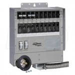 Reliance Controls Pro/Tran2 - 30-Amp (120/240V 10-Circuit) Outdoor Transfer Switch w/ Wattmeters & Inlet