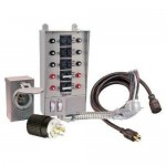 Reliance Controls Pro/Tran 2 - 30-Amp (6-Circuit) Power Transfer Switch Kit w/ 25' Cord