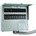 Reliance Controls Pro/Tran2 - 50-Amp (120/240V 10-Circuit) Outdoor Transfer Switch w/ Wattmeters & Inlet